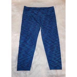 Fabletics Capri Leggings Blue Size Large Athletic